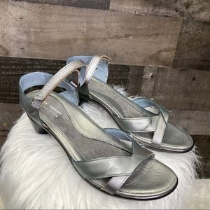 NAOT Silver Cheer Leather Sandal